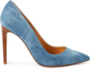 Ralph Lauren Celia Bleached Denim Pump