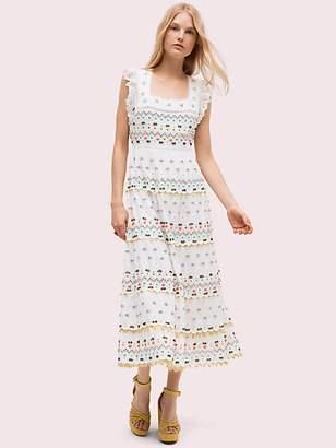 Kate Spade Eyelet Embellished Dress, Fresh White - Size 0