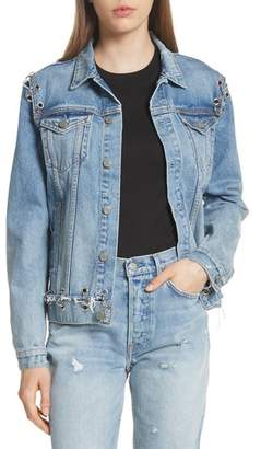 GRLFRND Gia Grommet Denim Jacket