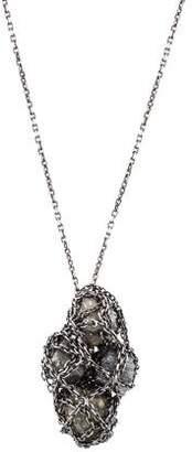 Solange Azagury-Partridge 18K Rough Diamond Cage Pendant Necklace