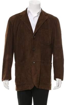 Dolce & Gabbana Suede Button-Up Jacket