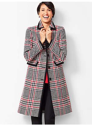 Talbots Herringbone Contrast-Trim Coat