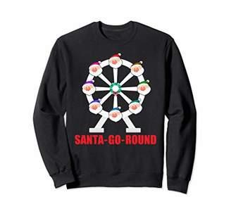 Go Round Santa Claus Vintage Faded Christmas Gift Sweatshirt