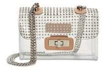 Steve Madden Clear Pinstud Mini Flap Crossbody Bag