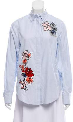 Jason Wu Grey by Embroidered Long Sleeve Button-Up w/ Tags