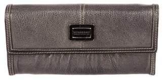 Burberry Metallic Leather Wallet