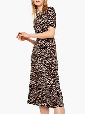 93d120461dcfa Warehouse Leopard Print Midi Dress, Animal