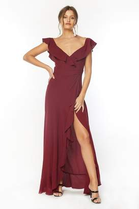 Flynn Skye Monica Maxi Dress - Very Berry