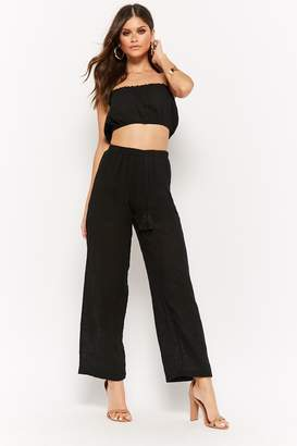 Forever 21 Gauzy Tube Top & Pants Set
