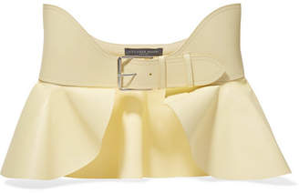 Alexander McQueen Leather Waist Belt - Pastel yellow