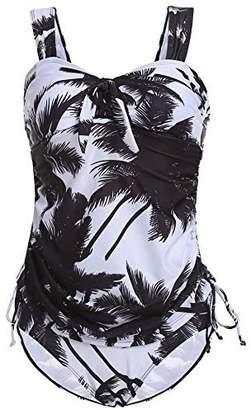 Ekouaer Women's Padded One Piece Bathing Suit(, XX-L)