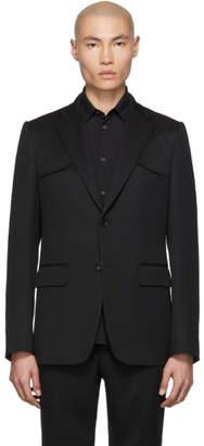 Comme des Garcons Homme Deux Black Wool Gabardine Blazer