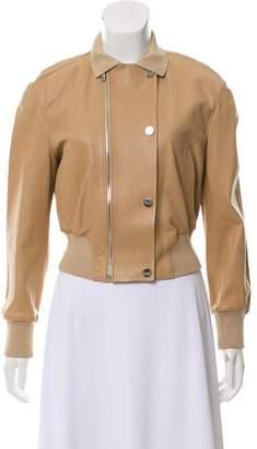 Salvatore Ferragamo Leather Bomber Jacket
