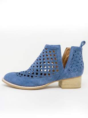 Jeffrey Campbell Blue Perforated Booties