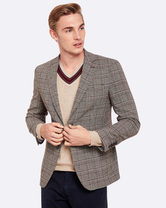 Oxford Max Wool Blend Checked Blazer
