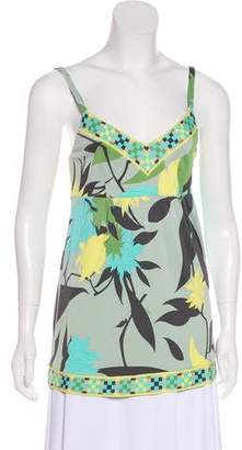 Emilio Pucci Sleeveless Floral Top