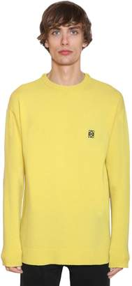 Loewe Embroidered Anagram Wool Knit Sweater