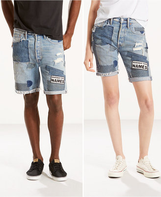 Levi's® Unisex 501® Pride Ripped City Hall Denim Shorts $89.50 thestylecure.com