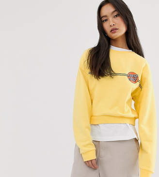 Santa Cruz OG Classic Dot sweatshirt in yellow