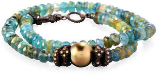 Armenta Old World Beaded Double-Wrap Bracelet with Diamonds