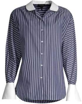 Marc Jacobs Stripe Button-Down Cotton Top