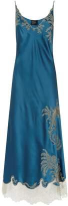 Carine Gilson Silk Lace Trim Nightdress