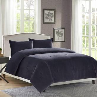 Heathered Velvet 3-piece Comforter Set