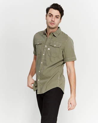 G Star Raw Military Green DC Short Sleeve Shirt