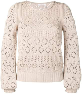 See by Chloe embroidered sweater