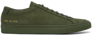 Common Projects Green Suede Achilles Sneakers
