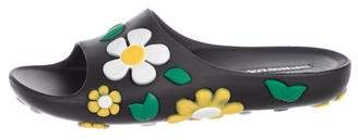 Prada Floral Rubber Sandals