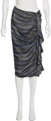 Veronica Beard Drew Cascade Ruched Skirt w/ Tags
