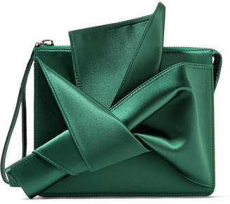 No.21 No. 21 - Knot Satin Clutch - Forest green
