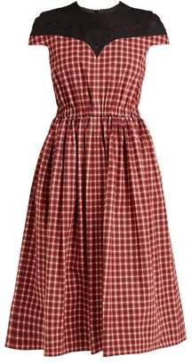 Fendi - Madras Check Cotton Dress - Womens - Red Multi