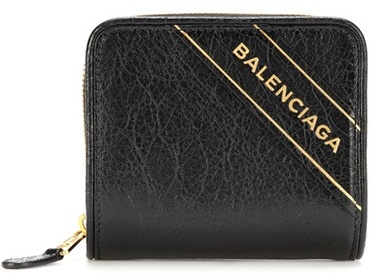 Balenciaga  Balenciaga Blanket leather wallet