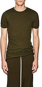 Rick Owens Men's Double-Layered Cotton Jersey T-Shirt - Olive
