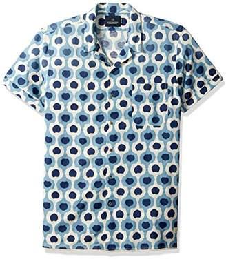 Scotch & Soda Men's Shortsleeve Shirt in Irregular Cotton Slub Quality with All