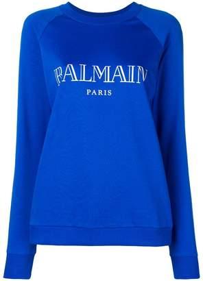 Balmain classic logo print sweater