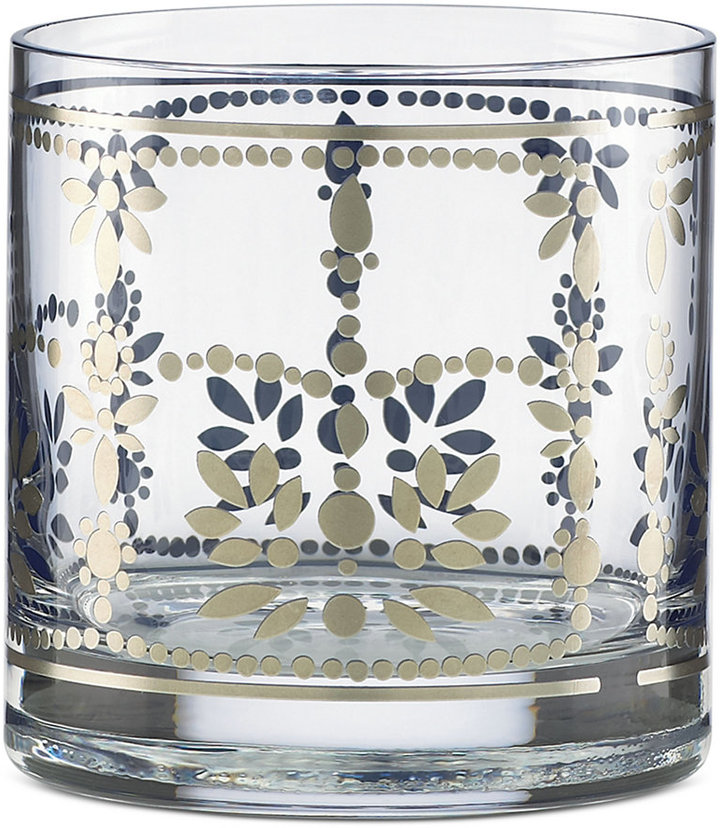 Marchesa by Lenox Empire Pearl Double Old-Fashioned Glass