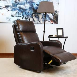 FRAMe WORK BONZY Recliner Chair Contemporary Chocolate Leather Recliner Chair for Modern Living room Durable Framework