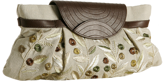 Tocca ivory floral embroidered 'Celia' clutch