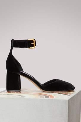 RED Valentino Velvet Heeled Sandals