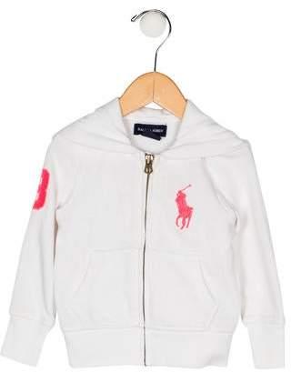 Ralph Lauren Girls' Hooded Zip-Up Jacket