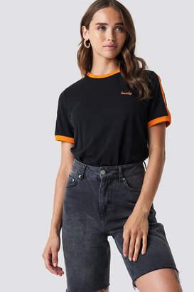 NA-KD Na Kd Lovely Embroidery Tee Black