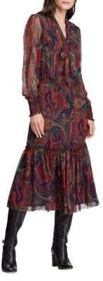 Lauren Ralph Lauren Tie-Neck Georgette Dress