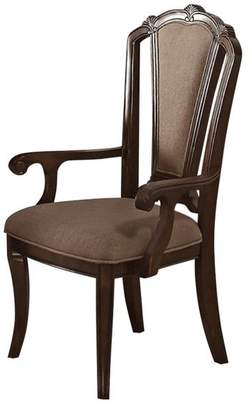 Benzara Birch Wood Dining Chairs With Aesthetic Back, Set of 2