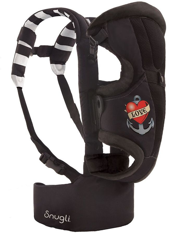 Evenflo front & back snugli baby carrier - tattoo