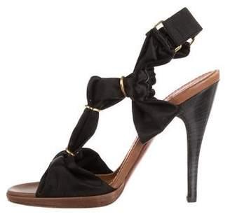 Lanvin Satin Ankle Strap Sandals