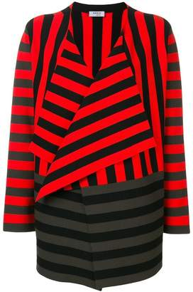 Akris Punto striped waterfall hem cardigan