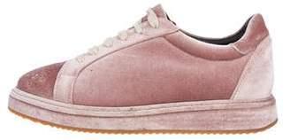 Brunello Cucinelli Velvet Low-Top Sneakers
